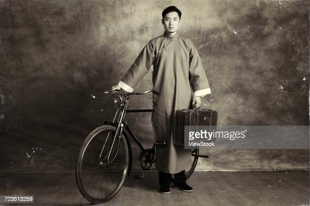 retro young man - vintage stock ストックフォトと画像