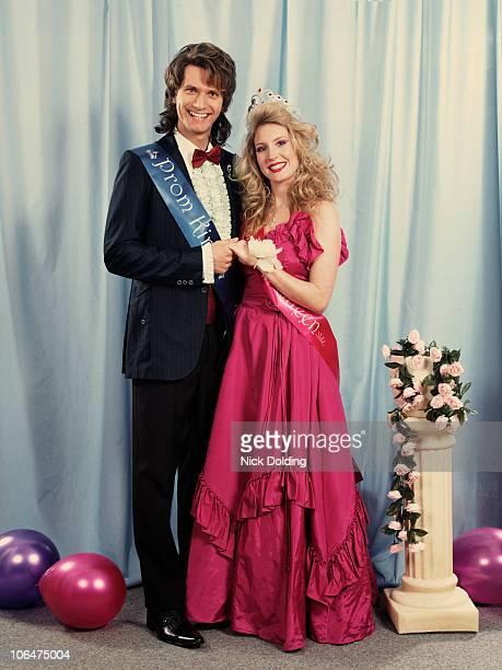 retro03b prom night couple - prom stock pictures, royalty-free photos & images