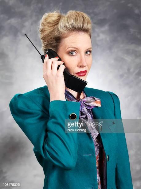 Retro20 Business woman on phone
