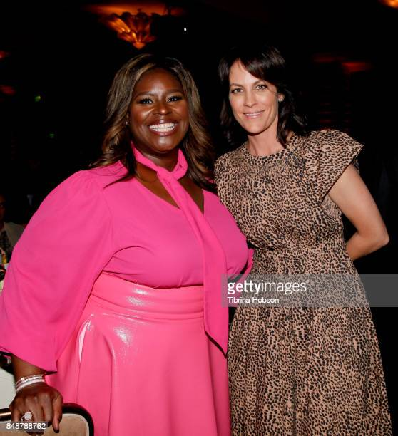Retta and Annabeth Gish attend the 6th Annual Women Making History Awards at The Beverly Hilton Hotel on September 16 2017 in Beverly Hills California