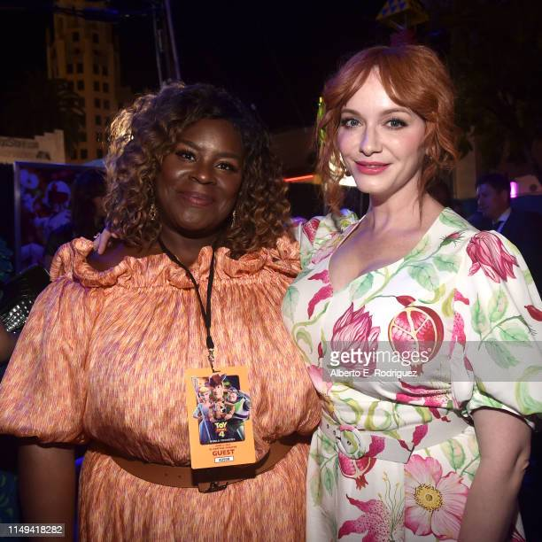 Retta and Christina Hendricks attend the world premiere of Disney and Pixar's TOY STORY 4 at the El Capitan Theatre in Hollywood CA on Tuesday June...