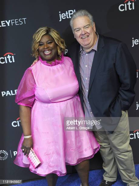 Retta and Jim O'Heir attend The Paley Center For Media's 2019 PaleyFest LA Parks And Recreation 10th Anniversary Reunion held at Dolby Theatre on...