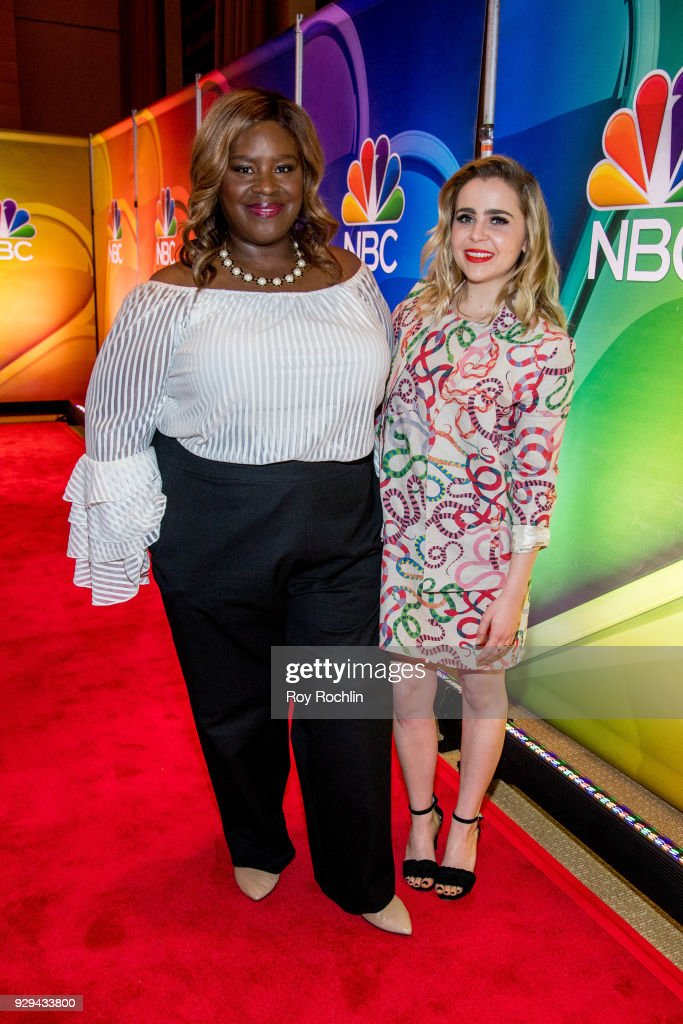 Retta and Mae Whitman attend NBC's New York mid season press junket at Four Seasons Hotel New York on March 8, 2018 in New York City.
