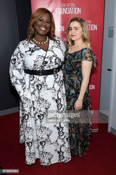 Retta and Mae Whitman attend the SAGAFTRA Foundation Conversations Good Girls at The Robin Williams Center on March 9 2018 in New York City