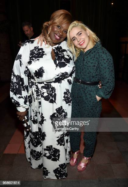 Retta and Mae Whitman of Good Girls and attend Entertainment Weekly PEOPLE New York Upfronts celebration at The Bowery Hotel on May 14 2018 in New...