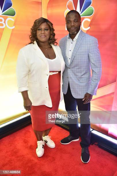"""Retta and Reno Wilson from """"Good Girls"""" attend the NBC Midseason New York Press Junket at Four Seasons Hotel New York on January 23, 2020 in New York..."""