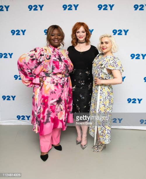 Retta Christina Hendricks and Mae Whitman visit 92Y to discuss Good Girls at 92nd Street Y on January 24 2019 in New York City