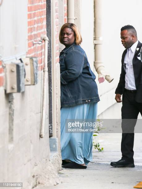 Retta is seen arriving at 'Jimmy Kimmel Live' on March 21, 2019 in Los Angeles, California.