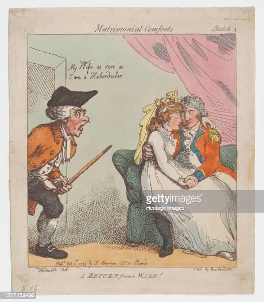 Return from a Walk, October 1, 1799. Artist Thomas Rowlandson.