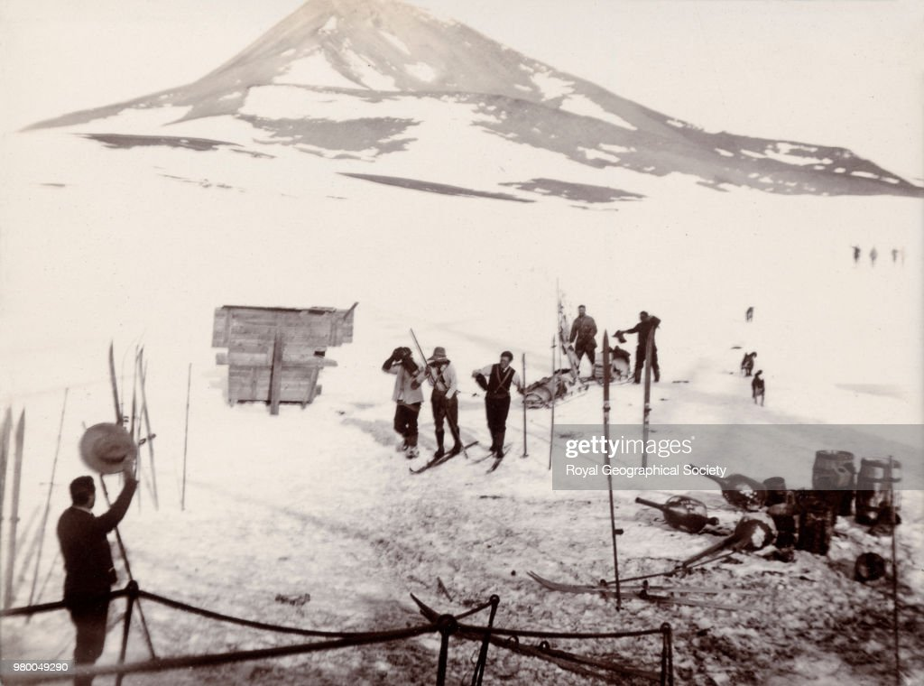 Return of Captain Scott from the southern journey, Antarctica, 03 February 1903. National Antarctic Expedition 1901-1904.