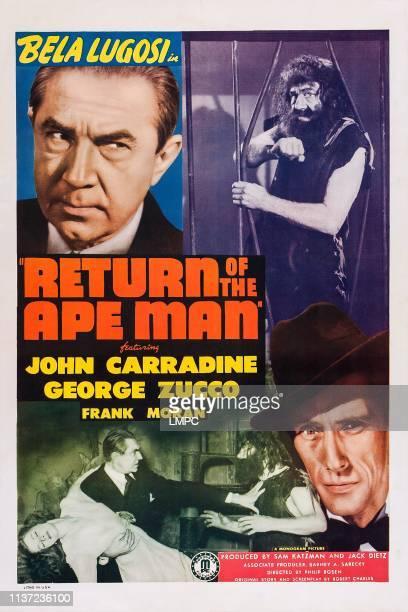 Return Of The Ape Man poster US poster Bela Lugosi John Carradine 1944