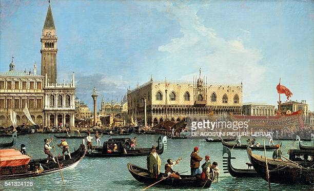 Return of the Bucintoro to the Molo on Ascension Day by Canaletto Italy 18th century