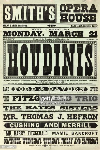 Return of the greatest of all magicians the Houdinis Harry Bessie original introducers of metamorphosis greatest and finest trunk mystery the world...