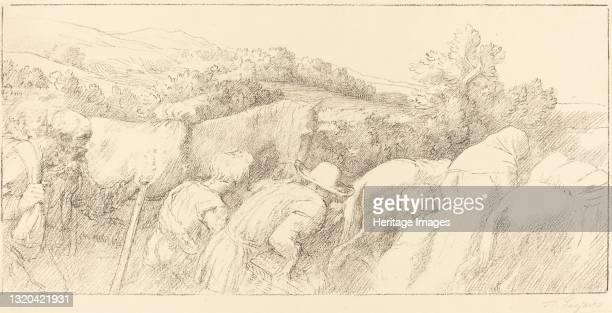Return of the Peasants . Artist Alphonse Legros.