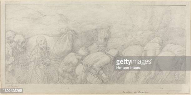 Return of the Peasants. Artist Alphonse Legros.