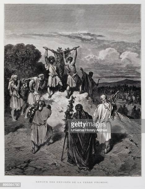 Return of the spies to the promised land Illustration from the Dore Bible 1866 In 1866 the French artist and illustrator Gustave Doré published a...