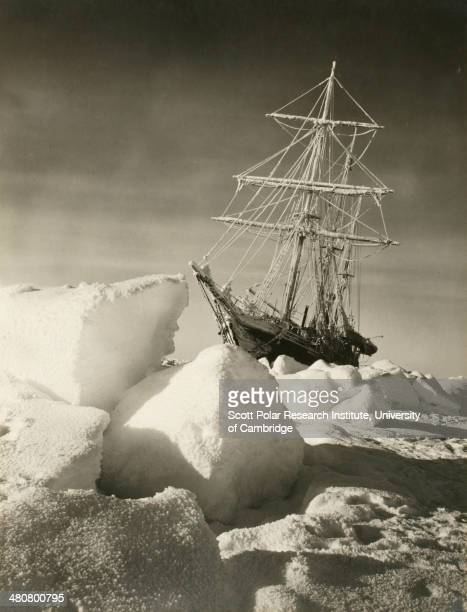 Return of the sun over the 'Endurance' after the long winter darkness during the Imperial TransAntarctic Expedition 191417 led by Ernest Shackleton