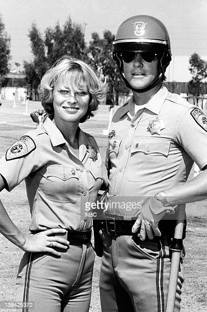CHIPS 'Return of the Supercycle' Episode 7 Aired Pictured Randi Oakes as Officer Bonnie Clark Larry Wilcox as Officer Jon Baker