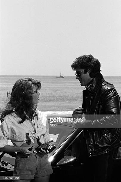RIDER Return to Cadiz Episode 6 Pictured Rebecca Holden as April Curtis David Hasselhoff as Michael Knight Photo by NBCU Photo Bank