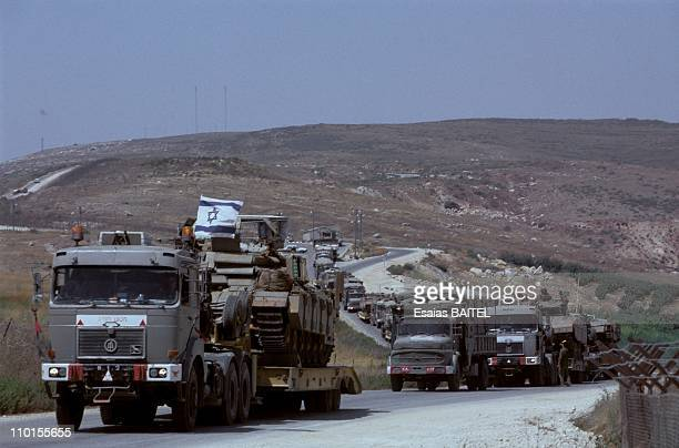 Return to Lebanon of the Israeli army after the ceasefire in Israel on August 03 1993