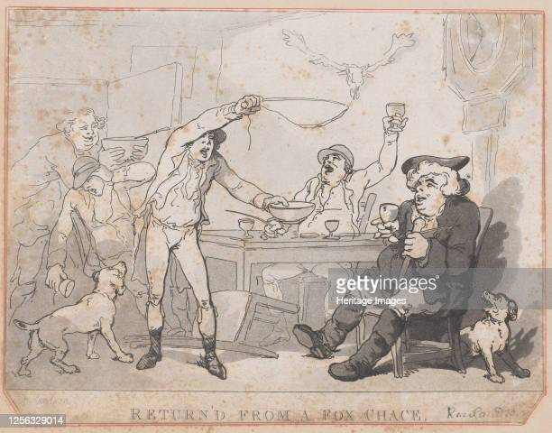 Return'd from a Fox Chace [sic] 1787 Artist Thomas Rowlandson
