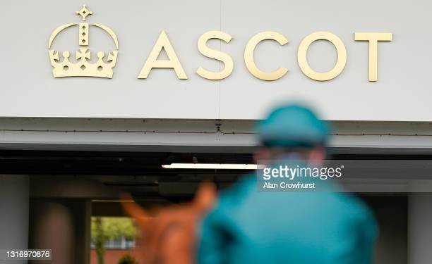 Returning after finishing in The tote+ Exclusively At tote.co.uk Handicap at Ascot Racecourse on May 08, 2021 in Ascot, England. Only owners are...