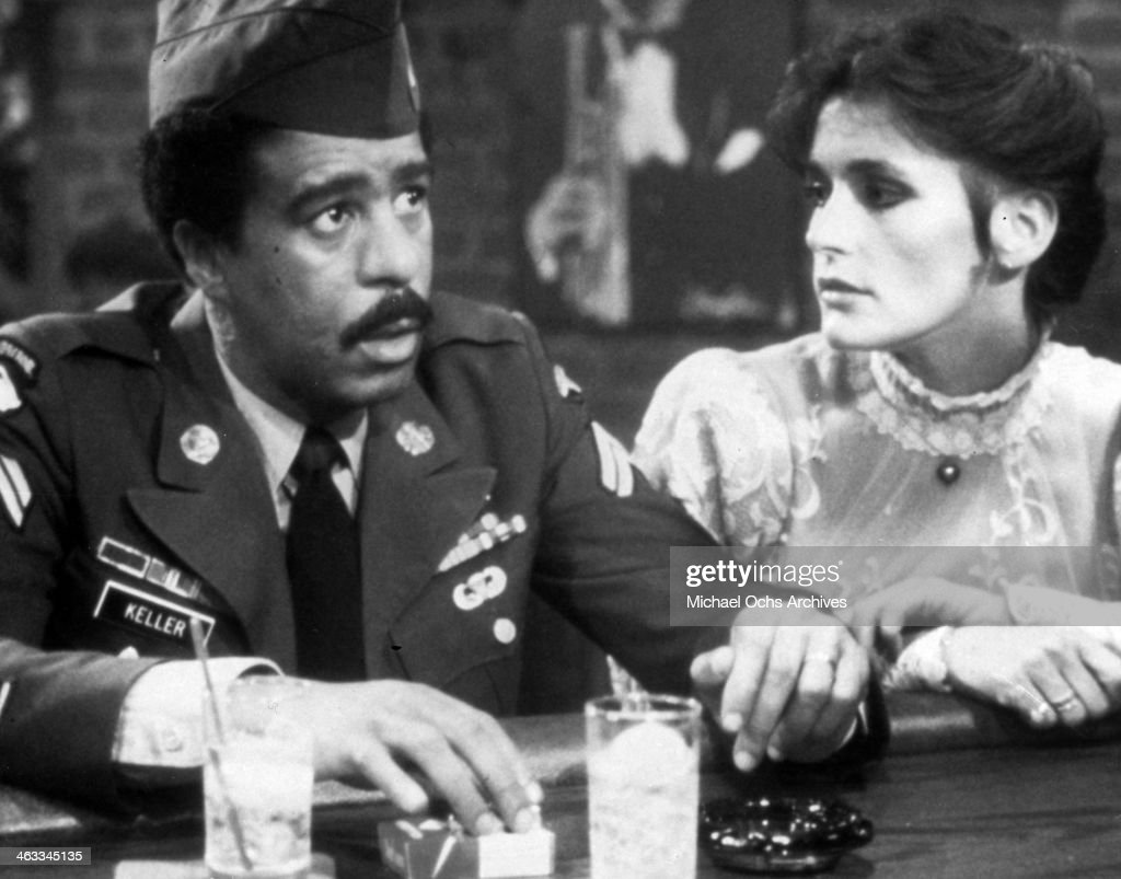 returning-pow-richard-pryor-gets-angry-with-margot-kidder-when-she-picture-id463345135