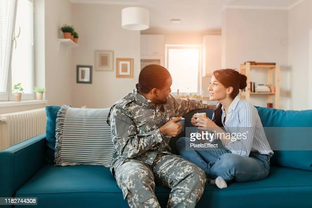 returns from the military - military spouse stock pictures, royalty-free photos & images