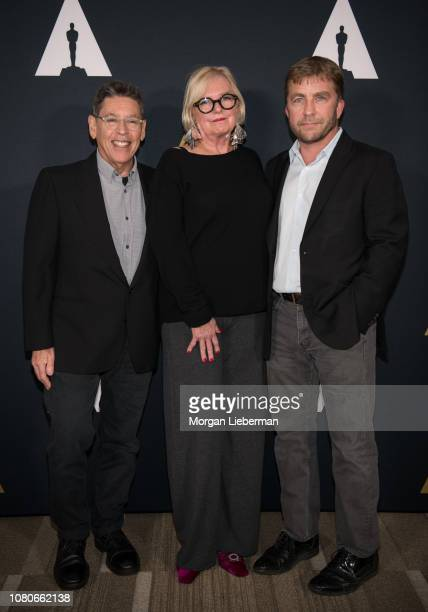 Reuben Freed Mary E McLeod and Peter Billinglsey arrive at the Academy Of Motion Picture Arts And Sciences 35th Anniversary Screening Of A Christmas...