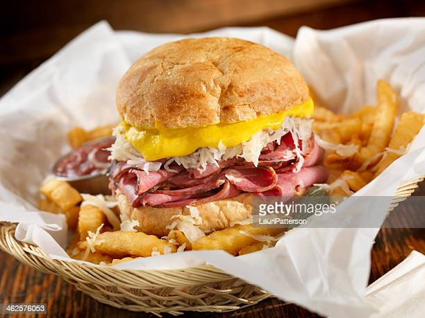 reuben sandwich - mustard stock pictures, royalty-free photos & images