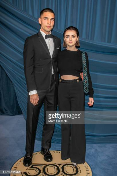 Reuben Selby and Maisie Williams attend the #BoF500 gala during Paris Fashion Week Spring/Summer 2020 at Hotel de Ville on September 30, 2019 in...