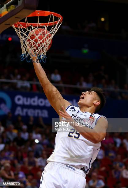 Reuben Te Rangi of the Bullets drives to the basket during the round nine NBL match between the Sydney Kings and the Brisbane Bullets at Qudos Bank...
