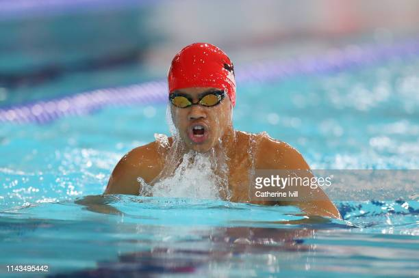 Reuben Visda competes in the Men's 400 IM heats during Day Three of the British Swimming Championships 2019 at Tollcross International Swimming...