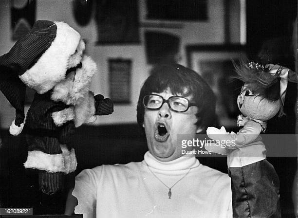 SEP 14 1971 SEP 29 1971 Reum sings out as she holds elf The elf is constructed differently from the other puppets He has no feet but has a winning...