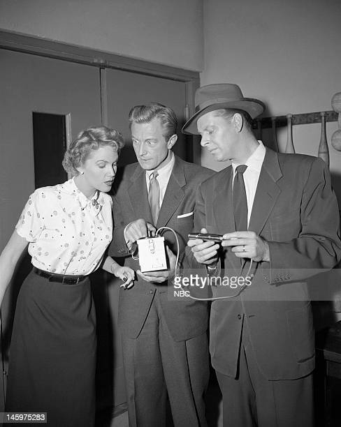 MRS NORTH Reunion Episode 203 Pictured Barbara Britton as Pam North Richard Denning as Jerry North Harlan Warde as Agent Adams