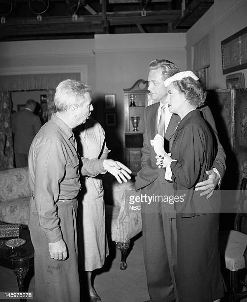 MRS NORTH Reunion Episode 203 Pictured Director George Blair Richard Denning as Jerry North Barbara Britton as Pam North