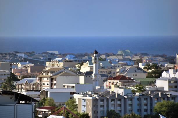 "Reunion Island, Saint-Denis, in the city center the minaret of the mosque ""Al'Madina"", rue de La Lorraine"