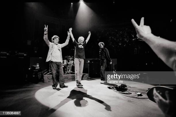 Reunion of British rock group Cream at Royal Albert Hall in London on May 3 2005 Bassistvocalist Jack Bruce guitaristvocalist Eric Clapton drummer...