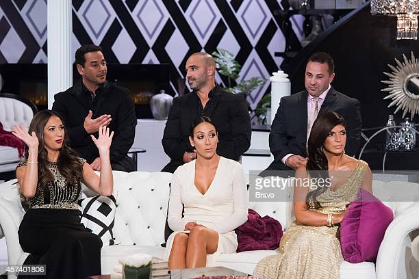 "Reunion"" -- Pictured: Amber Marchese, James Marchese, Melissa Gorga, Joe Gorga, Joe Giudice, Teresa Giudice --"