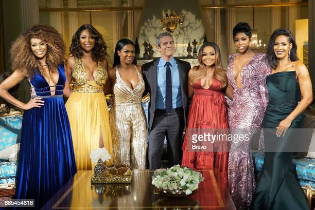 ATLANTA Reunion Pictured Cynthia Bailey Kenya Moore Kandi Burruss Andy Cohen Phaedra Parks Porsha Williams Sheree Whitfield