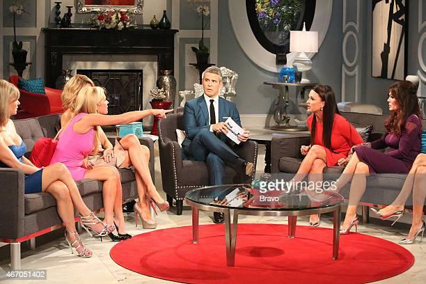 HILLS Reunion Pictured Eileen Davidson Kim Richards Brandi Glanville Andy Cohen Kyle Richards Lisa Vanderpump
