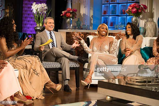 ATLANTA Reunion Pictured Kenya Moore Andy Cohen NeNe Leakes Porsha Williams