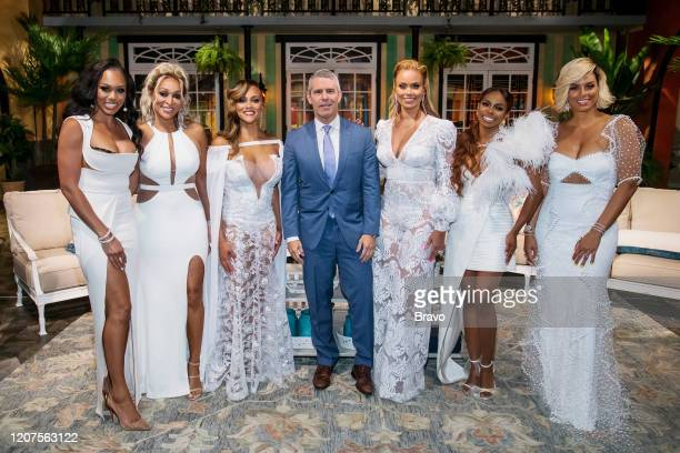 POTOMAC Reunion Pictured Monique Samuels Karen Huger Ashley Darby Andy Cohen Gizelle Bryant Candiace Dillard Bassett Robyn Dixon Photo by Charles...