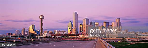 Reunion tower and Dallas skyline