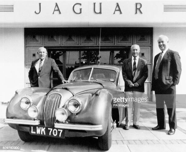 Reunited with the Jaguar XK120 they last drove 40 years ago Stirling Moss and Jack Fairman with Jaguar chairmen Nick Scheele ON 5/8/1952 the car set...