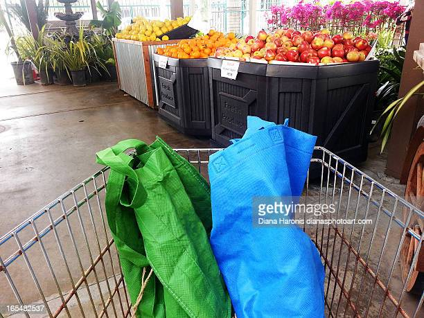Reusable Bags in Cart