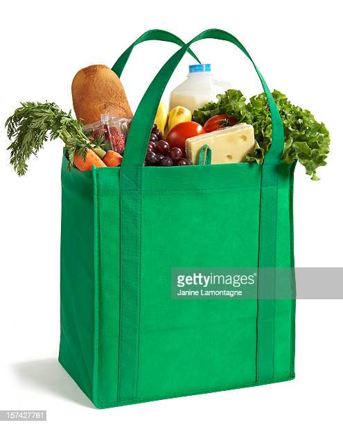 reusable eco friendly grocery bag - bag stock pictures, royalty-free photos & images