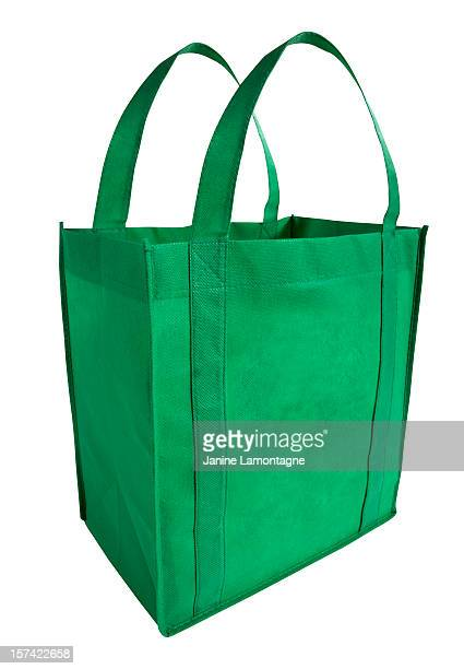 reusable, green shopping bag - reusable bag stock pictures, royalty-free photos & images