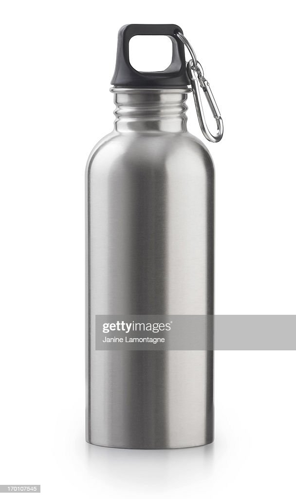 Reusable Stainless Steel Water Bottle : Stock Photo