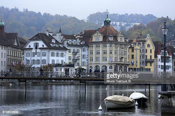 Reuss River and Rathaussteg bridge